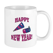 Happy New Year Noise Makers Design Mug