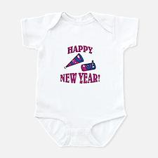 Happy New Year Noise Makers Design Infant Bodysuit