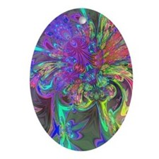 Glowing Burst of Color Ornament (Oval)