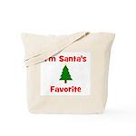 I'm Santa's Favorite w/ Tree Tote Bag