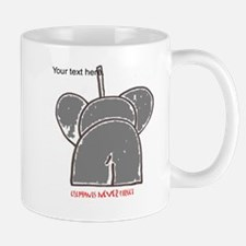 elephants never forget red writing Mug