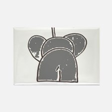 does my elephant look big on this Rectangle Magnet