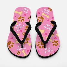 Peagle Mom Gift Flip Flops