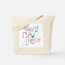 Pastel Happy New Year Tote Bag