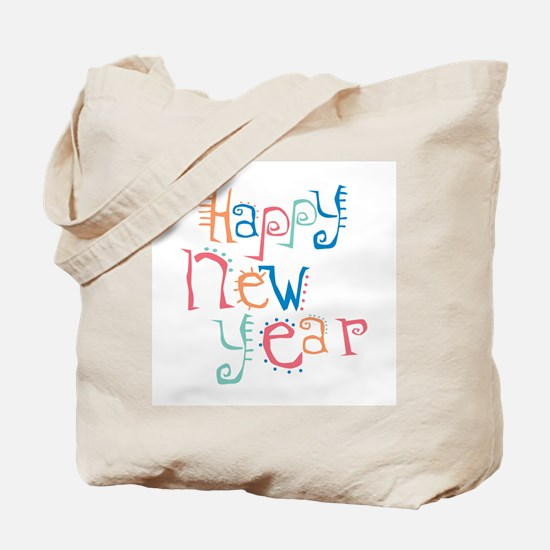 Pastel Happy New Year Tote Bag