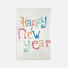 Pastel Happy New Year Rectangle Magnet