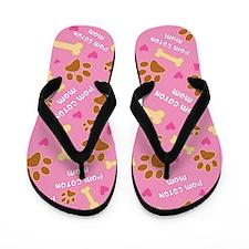 Pom-Coton Mom Gift Flip Flops