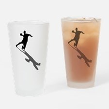 Handball Player Drinking Glass