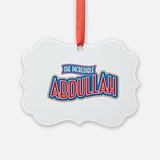 The Incredible Abdullah Ornament