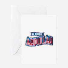 The Incredible Abdullah Greeting Card