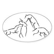 SCHUTZHUND TRIATHALON OF THE Sticker (Rectangular