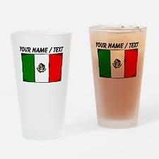 Custom Mexico Flag Drinking Glass