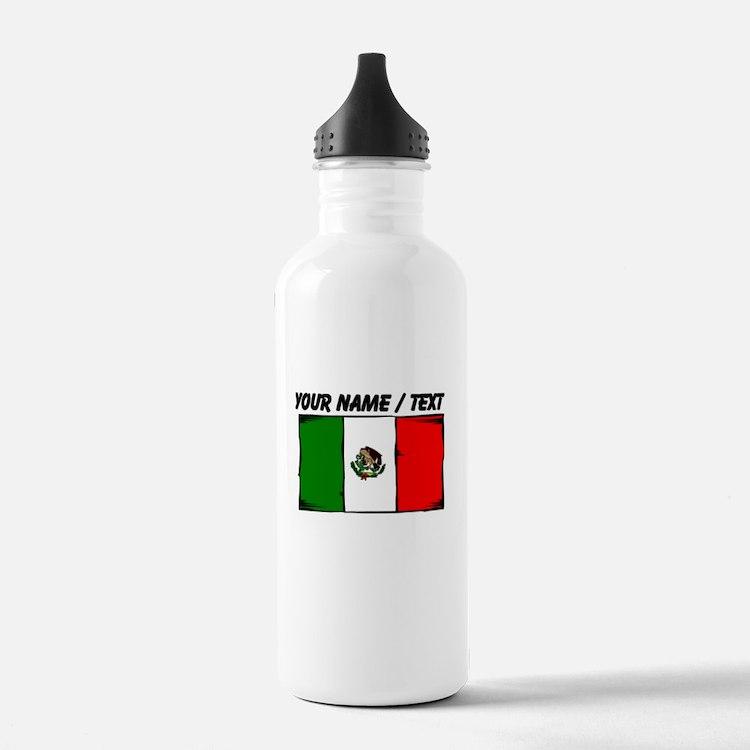 Custom Mexico Flag Water Bottle