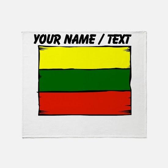 Custom Lithuania Flag Throw Blanket