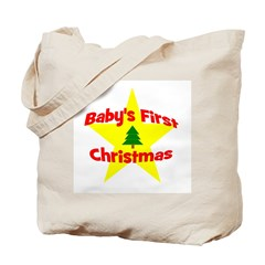 Baby's First Christmas star Tote Bag