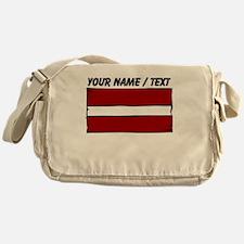 Custom Latvia Flag Messenger Bag