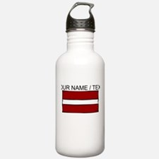 Custom Latvia Flag Water Bottle