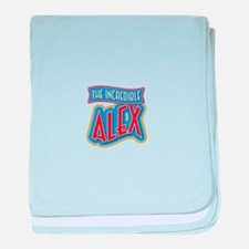 The Incredible Alex baby blanket