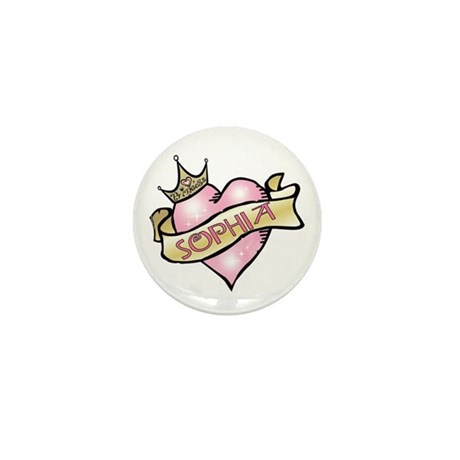 Sweetheart Sophia Custom Princess Mini Button