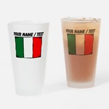 Custom Italy Flag Drinking Glass