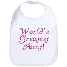 World's Greatest Aunt! Bib