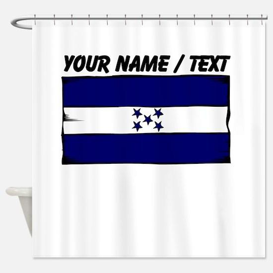 Custom Honduras Flag Shower Curtain