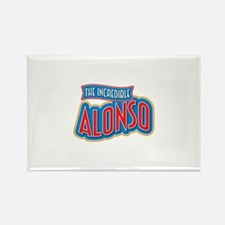 The Incredible Alonso Rectangle Magnet