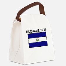 Custom El Salvador Flag Canvas Lunch Bag