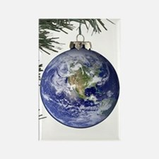 World Ornament Rectangle Magnet