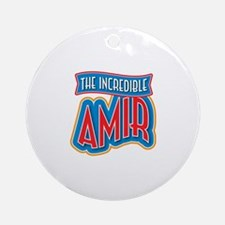 The Incredible Amir Ornament (Round)