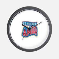 The Incredible Amir Wall Clock