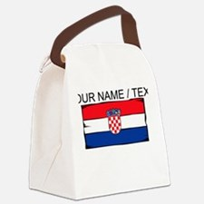 Custom Croatia Flag Canvas Lunch Bag