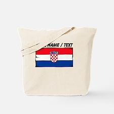 Custom Croatia Flag Tote Bag