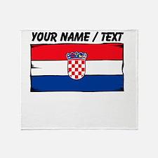 Custom Croatia Flag Throw Blanket