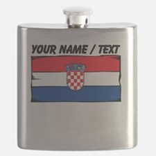 Custom Croatia Flag Flask