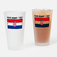 Custom Croatia Flag Drinking Glass