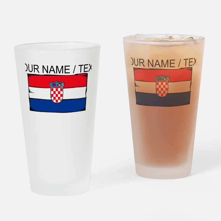 Custom Croatia Flag Drinking Glass