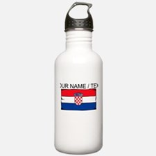 Custom Croatia Flag Water Bottle