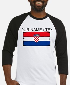 Custom Croatia Flag Baseball Jersey