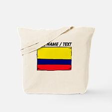 Custom Colombia Flag Tote Bag