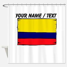Custom Colombia Flag Shower Curtain
