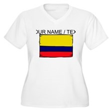 Custom Colombia Flag Plus Size T-Shirt