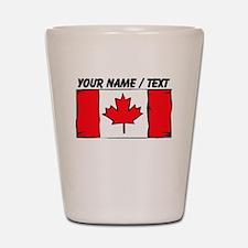 Custom Canada Flag Shot Glass