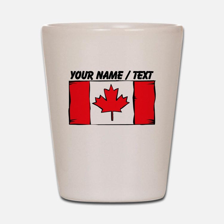 Custom Canada Flag Shot Glass