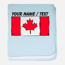 Custom Canada Flag baby blanket