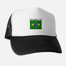 Custom Brazil Flag Trucker Hat