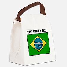 Custom Brazil Flag Canvas Lunch Bag
