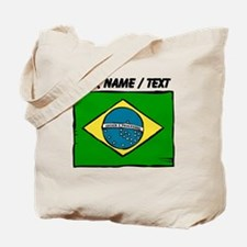 Custom Brazil Flag Tote Bag
