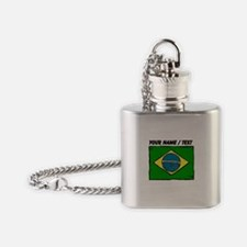 Custom Brazil Flag Flask Necklace