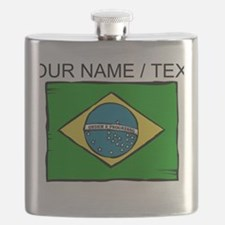 Custom Brazil Flag Flask